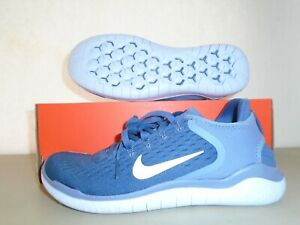 New Nike Free RN 2018 Diffused Blue Grey Running Shoes sz 8