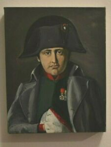 """oil painting on canvas of Napoleon 11""""x9  inches"""