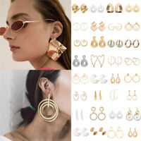 Fashion Jewelry Women Statement Boho Metal Alloy Geometric Dangle Drop Earrings
