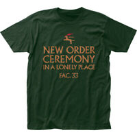 New Order Ceremony T Shirt Mens Licensed Rock N Roll Music Band Tee New Green