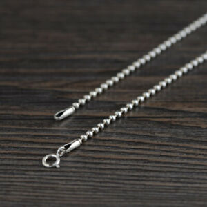 I05 Ball - Chain 2 MM 925 Sterling Silver Length Selectable 40 CM To 80 CM