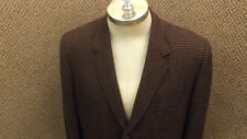 Vtg Abercrombie & Fitch Cashmere Houndstooth Sports Coat/Jacket 41R Union Made