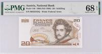 Austria 20 Shillings 1986 / 1988 P 148 Superb Gem UNC PMG 68 EPQ HIGH