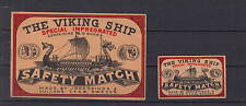 Ancienne  étiquette   allumettes  Suède  AAZ3930 Drakar Bateau 8