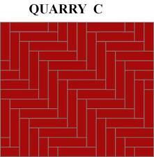 "DOLLHOUSE MINIATURES, DOLLHOUSE FLOORING.QUARRY RANGE ( C ) 1"" X 1/4"" TILES"