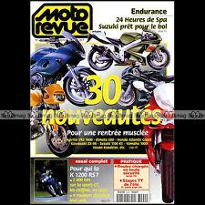 MOTO REVUE N°3290 BMW K1200 RS JEAN-LUC FOUCHET 24 H DE SPA SALON DE PARIS 1997