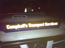 Reflective Vinyl LARGE Bug Deflector SIGNAGE ONLY, Kenworth, Mack, Westernstar