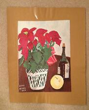 "AUTHENTIC ARTAGRAPH OIL PAINTING ""WINE,FRUIT,FLOWERS"" LOU NIZER SIGNED #65/700"