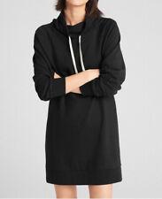 Gap Funnel Neck Pullover Sweatshirt Dress Black #39863-7