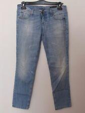 Benetton - Jeans donna modello Slim, taglia 30, colore blu jeans