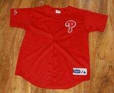 Vintage Philadelphia Phillies Baseball Jersey Youth L Womens Size 8 / 10 MESH