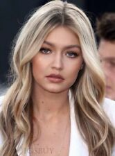 Gigi Hadid Style Long Wavy Synthetic Hair Womens Wig 20 Inches