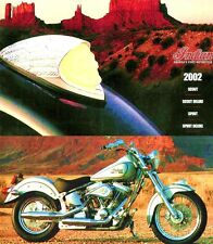 2002 INDIAN SCOUT & SPIRIT MOTORCYCLE LARGE DELUXE BROCHURE -INDIAN SCOUT-SPIRIT