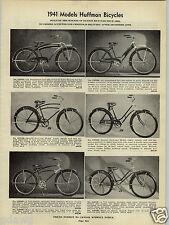 1941 PAPER AD Huffman Bicycle Dayton Irish Mail Racer Pedal Car