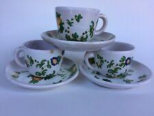 Zaccagnini Espresso Demitasse Cups Saucers Italian Handpainted Signed Ceramic