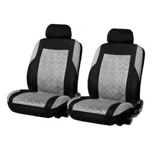 4Pcs Car Seat  Embossed Cover Front Row Set Full Surrounding Cushion Protector