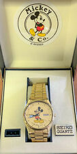 Seiko Vintage Mickey Mouse Wrist Watch With Original Box