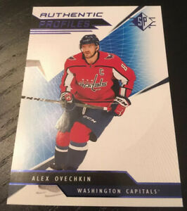 2018-19 Upper Deck SP Hockey Authentic Profiles BLUE Alex Ovechkin Capitals!