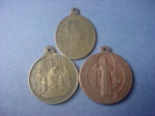 Jesuit and Other Trio of Old Religious Medals #64700