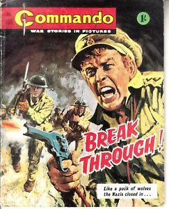 COMMANDO COMIC - No 196   BREAK THROUGH
