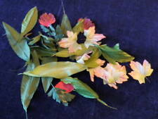 """Retro Millinery Flower Collection All Leaves Green Pink Large 2-8""""   H2037"""