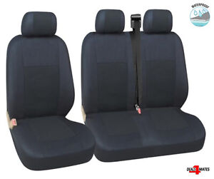 For Fiat Ducato Talento Scudo Waterproof Black Quality Fabric Van Seat Covers