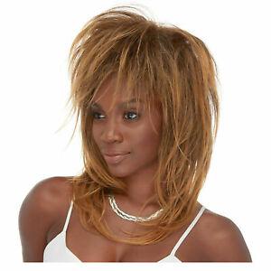 Adult Womens Tina Turner Singer Movie Celebrity Halloween Costume Short Wig