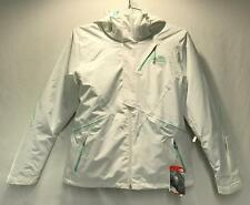 North Face Kira Triclimate Women's Winter Snow Ski Jacket White Green Large NEW