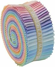 Robert Kaufman Kona Cotton Solids Pastel Palette Jelly Roll up Set of 41 2