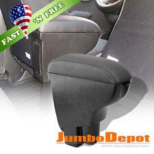 US for 02-08 Honda Fit Jazz GD1-GD6 Carbon Black Leather Center Console Armrest