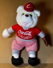 "RARE Vintage Coca Cola ALL STARS Teddy Bear circa 1993 12"" USED Baseball player"