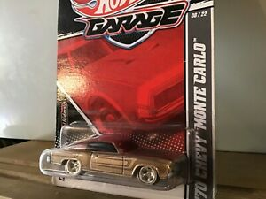 1970 Monte Carlo RR Hot Wheels Larry's garage 1/64 brown Chrome real rubber tire
