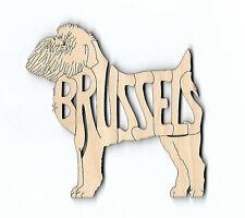 Brussels Griffon Dog laser cut wood Magnet