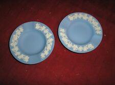 Wedgwood Jasperware White on Blue 2 Small Ashtrays
