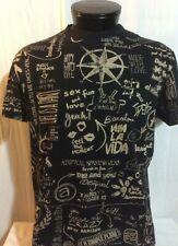 Desigual Graffiti Black & Gray T-Shirt EUR XL US L