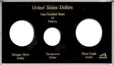 "Capital Plastic 4"" x 7"" Meteor 3-Coin Holder ""United States Dollars"" - Black"