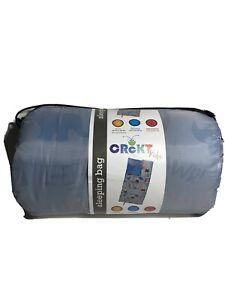 """Crckt Kids Polyester Sleeping Bag with Full Zipper Closure Dinosaur 5'4"""" W12"""