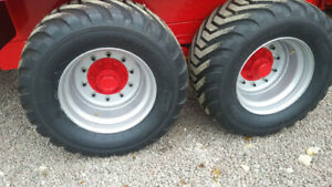 550/45X22.5 20ply 10 Stud Wheel&Tyre Assembly, x 4