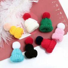 Mini Knitted Hat Brooch Sweater Brooches Pin Men Women Collar Badge Enamel Pins