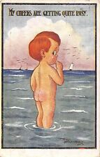 POSTCARD  COMIC  CHILDREN    Bottom  Related My  cheeks are getting quite  rosy