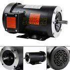 2 HP Electric Motor 3 Phase 56C Frame 1800 RPM TEFC 208 230 / 460 Volt New