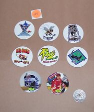 POGS MILKCAPS GAME PIECES AS PICTURED LOT #24 ROLLER HOCKEY ICE HOCKEY