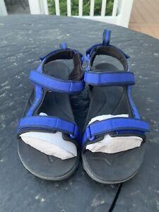 Teva Tanza Sandal Size 4 Juniors 110219J  ~Blue/Grey