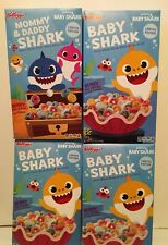 4 Boxes Kellogg's Pinkfong Baby Shark Limited Edition Breakfast Cereal Berry Fin