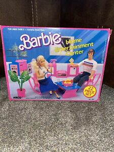 Barbie Home Entertainment Center Arco 1987 Playset Living Room House furniture