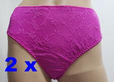 2 x String Fuchsia Größe 4XL Under /& Over Fashion Damen Slip Tanga Unterwäsche