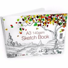 Ivy Stationery A3 Wiro Sketchbook - 30 Pages – 140gsm – Landscape – UK Made