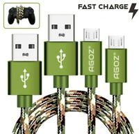2Pack Camo Micro USB Charger Cable - PlayStation 4 Slim PS4 Dualshock Controller