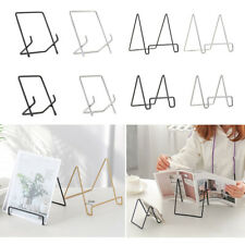 Metal Geometric Stand Holder Decor Fits for Plates, Art, Photographs, Books