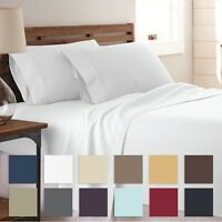 The Home Collection - 4 Piece Bed Sheet Set - 14 Beautiful Colors